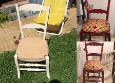 reciclado de silla Dolores Montoya