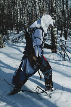 kei-renzo: Another photospam of the AC3 cosplay! I will never regret spending that day in the forest; I felt like a real Connor, climbing up the trees, jumping from the rocks, shootings, running around and helplessly drowning in the snow. Special thanks to Nayumi and Xellos, and Nayumi's mom - without them there would be no cosplay, seriously. They are my life saviors, love them. Another one special note goes to Andrej Bosenko, whose absolutely amazing teaser photo you can see here. You ca