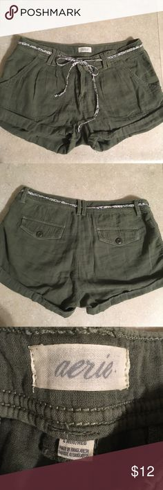 Aerie/American Eagle shorts Olive green, soft 100% cotton American Eagle Outfitters Shorts