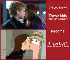 Vanessa and Ferb. Love Actually
