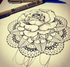 I need this in my life! Too gorgeous.  Mandala rose tattoo.