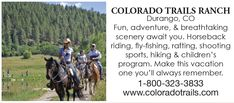 All-Inclusive Dude Ranch Vacation Dude Ranch Vacations, Colorado Trail, Programming For Kids, Reunions, Horseback Riding, Rafting, Fly Fishing, How To Memorize Things, Scenery