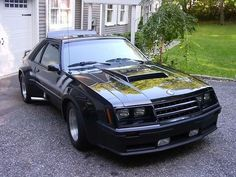 Widebody 1982 Ford Mustang GT modified by dealer Mustang Cars, Ford Mustang Gt, Us Cars, Sport Cars, Ford Fox, Fox Body Mustang, Cars And Coffee, Pony Car, Capri