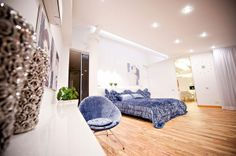 Apartment Design, Kids Bedroom Decorating Ideas In Modern Loft Apartment 16 800x532 As Single Blue Sofa Alsowhite Lighting: Mesmerizing High...