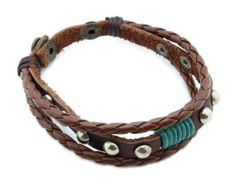 Amazon.com: Personalized Charm Handmade Friendship Leather Bracelets Designs for Women A: Jewelry