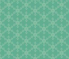 Snowflake fabric by tammikins on Spoonflower - custom fabric
