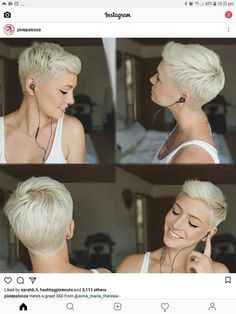 Cheveux - very short pixie - Really Short Hair, Short Straight Hair, Short Hair Cuts, Short Hair Styles, Undercut Hairstyles, Pixie Hairstyles, Short Hairstyles For Women, Straight Hairstyles, Hairstyle Short