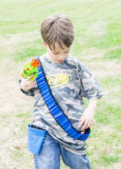 #Custom #Nerf #blue #pistol #holsters made by #Sew #Dang #Kewl in #collaboration with #vcmblog for #Nerf #War #kids #boys #birthday #present #ideas