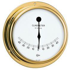 "BARIGO Viking Series Ship's Clinometer - Brass Housing - 5 Dial by Barigo. BARIGO Viking Series Ship's Clinometer - Brass Housing - 5 Dial. 5"" Dial."