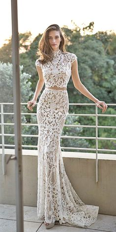 Bridal Separates Gowns And#8211; Breaking The Rules ❤️ See more: http://www.weddingforward.com/breaking-the-rules-bridal-separates/ #weddings