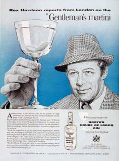 Rex Harrison for Booth's House of Lords Gin