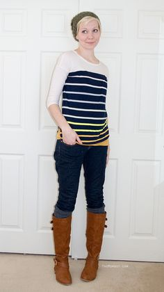What I Wore Wednesday: hat & boots, 21 weeks pregnant | TheMombot.com