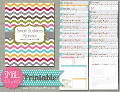 "Small Business Planner {printable} Set - Sized Small 5.5"" X 8.5"" PDF"