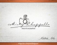 Photography logo design and photography watermark. Camera Logo by MalinaPhotoLogos | Etsy