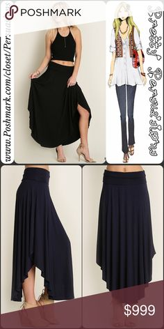 "NWT Black Jersey Maxi Skirt NWT Black Swing Maxi Skirt  Available in sizes S, M, L Measurements taken from a size small  Length: 39.5"" (at longest) Waist: 26"" (unstretched) Hips: 40""  Features  • wide waistline  • shorter at sides & longer at front center & back • extremely soft, breathable material w/a lot of stretch • relaxed, easy fit • swing cut   Cotton blend   Also available in mocha latté  Bundle discounts available  No pp or trades  Item # 1/1-7/15-0480MS blush pink not printed skirt…"