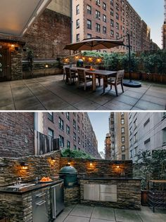 The ultimate rental in NYC takes outdoor living seriously. This Upper West Side residence's highlight is its planted terrace and outdoor kitchen.
