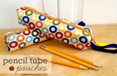 """That's My Letter: """"P"""" is for Pencil Tube Pouches  be sure to look at Japanese pictures. With the two sets combined it is a really clear project and so very cute."""