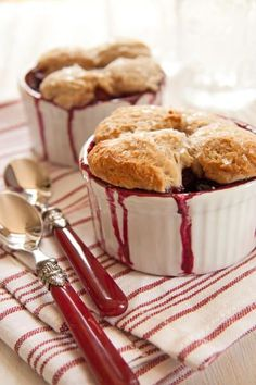 Luscious berries and tender biscuits define this summer classic berry cobbler.
