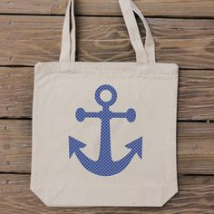 Anchor Tote Bag - Summer Collection - HandmadeandCraft on Etsy
