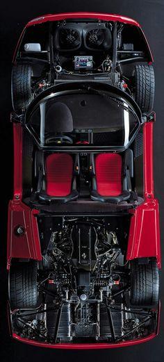 (°!°) Ferrari F50 cut away over view
