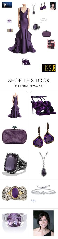 """Mandy Moore of ""This Is Us"" 69th Primetime Emmy Awards"" by ejmfashionista ❤ liked on Polyvore featuring Monique Lhuillier, Marco de Vincenzo, Bottega Veneta, Plukka, David Yurman, Konstantino, Bølo, NYX, Emmys and THISISUS"