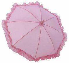 Amazon.com: Galleria Kid's Ruffle Umbrella - Pink (Kids Ruffle-Pink): Clothing