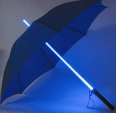 Starwars Lightsaber Umbrella Red/Orange/Yellow LED Light Up Shaft #geek #gift