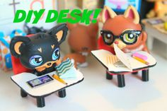 LPS DIY How to make a miniature school desk Source by markettameyer