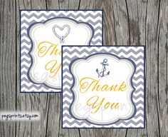 Matching Nautical Thank You Tags (DIY Printable)