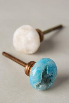 Druzy Quartz Knob - anthropologie.com