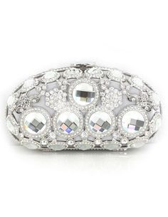 Silver Unspecified Shape Crystal Metallic Womans Evening Bag. Silver Unspecified Shape Crystal Metallic Womans Evening Bag. See More Evening Bags at http://www.ourgreatshop.com/Evening-Bags-C769.aspx
