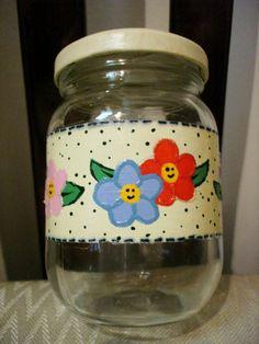 Potes de vidro decorados 12