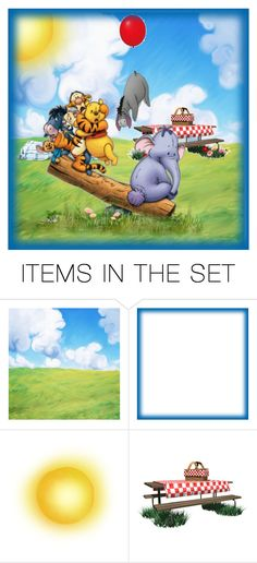 """""""Using a friend to save Eeyore cousin"""" by barebear1965 ❤ liked on Polyvore featuring art"""