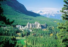 The Banff Springs Hotel presents a remarkable picture for tourists in the Bow Valley. It has evolved from the original wooden building to the iconic stone structure above. 2013 marks its 125th anniversary.