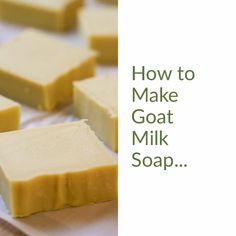 A simple step-by-step picture tutorial on how to make goat milk soap. From beginning to end, everything you need to know to make milk soap at home. soap goat milk How to Make Goat Milk Soap Handmade Soap Recipes, Soap Making Recipes, Handmade Soaps, Goat Milk Recipes, Savon Soap, Shea Butter Soap, Goat Milk Soap, Home Made Soap, Blog