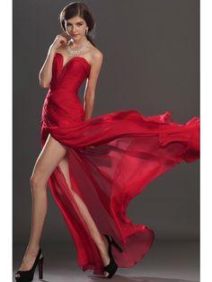 Stunning Sleeveless Floor-Length Spaghetti Straps Trumpet/Mermaid Chiffon Evening Dress