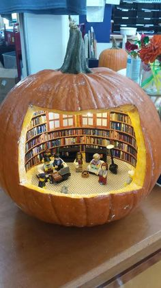 Who else thinks that the Truro Public Library might have just won the 'best book-themed pumpkin carving' award?!