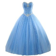 HTYS Women's Sweetheart Ball Gown Organza Quinceanera Dresses With Beads HY069