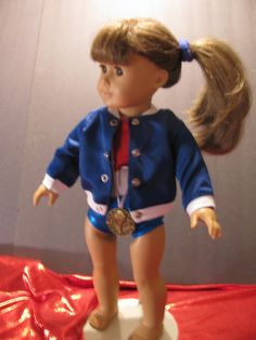 Olympic Swim Team Outfit made to fit Am Girl or by LindaK7, $19.95