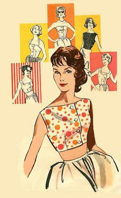 1950s. Patterns!  I did my own sewing and learned on a treddle machine