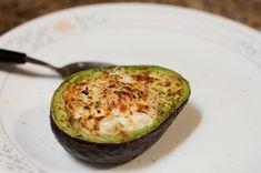 egg baked inside avocado