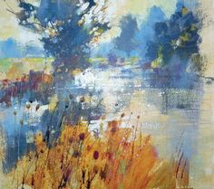 How to Capture Light in Watercolour and Mixed Media - paint teasels and willowherb in the mist on the Stour with Chris Forsey