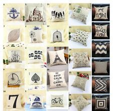 Fashion linen Throw Pillow Cases Home Decorative Cushion Cover Square 16.5""