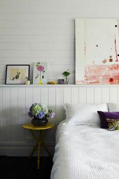 lovely bedroom via The Design Files Home Bedroom, Master Bedroom, Bedroom Decor, Bedroom Artwork, Shabby Bedroom, Light Bedroom, Shabby Cottage, Design Bedroom, Shabby Chic