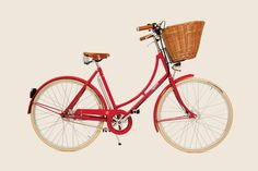 Red girly bike