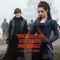 Lily James - Sam Riley - Lizzie Bennet - Elizabeth Bennet - Mr. Darcy - Pride and Prejudice and Zombies