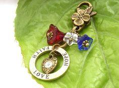 Love hope faith stamped affirmation bag charm