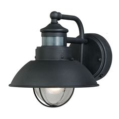 Motion Sensors For Lights Outdoor Fallbrook 9h black dusk to dawn motion sensor outdoor light dusk shop portfolio chesapeake 8 34 in h textured black motion activated outdoor wall light at lowes workwithnaturefo