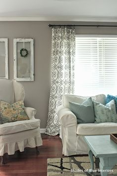 No Sew Tutorial: Lined Curtains   Shades Of Blue Interiors