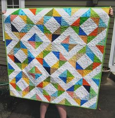 I think I'll use a similar arrangement for my half square triangle quilt- I want to try out using the Accuquilt Go for cutting this, and have a selection of pinky-purply fabrics picked out!